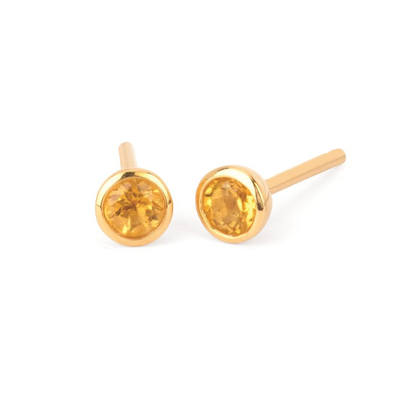 Kelley Collection  Citrine Studs