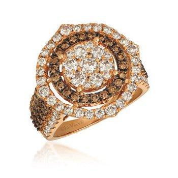 14K Strawberry Gold® Chocolate & Nude Diamond™ Ring