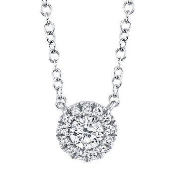 Diamond Halo Pendant