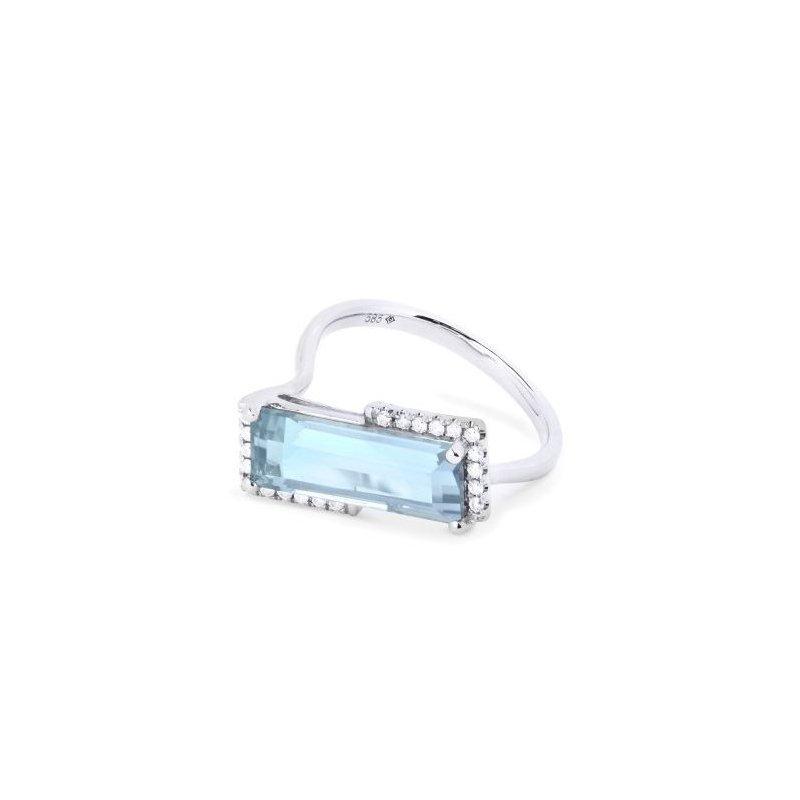Kelley Collection  Blue Topaz & Diamond Ring