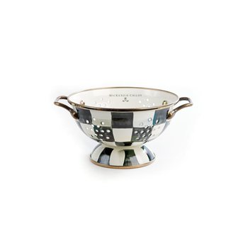 Courtly Check Enamel Colander - Small