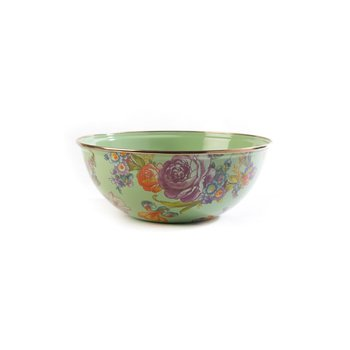 Flower Market Medium Everyday Bowl - Green
