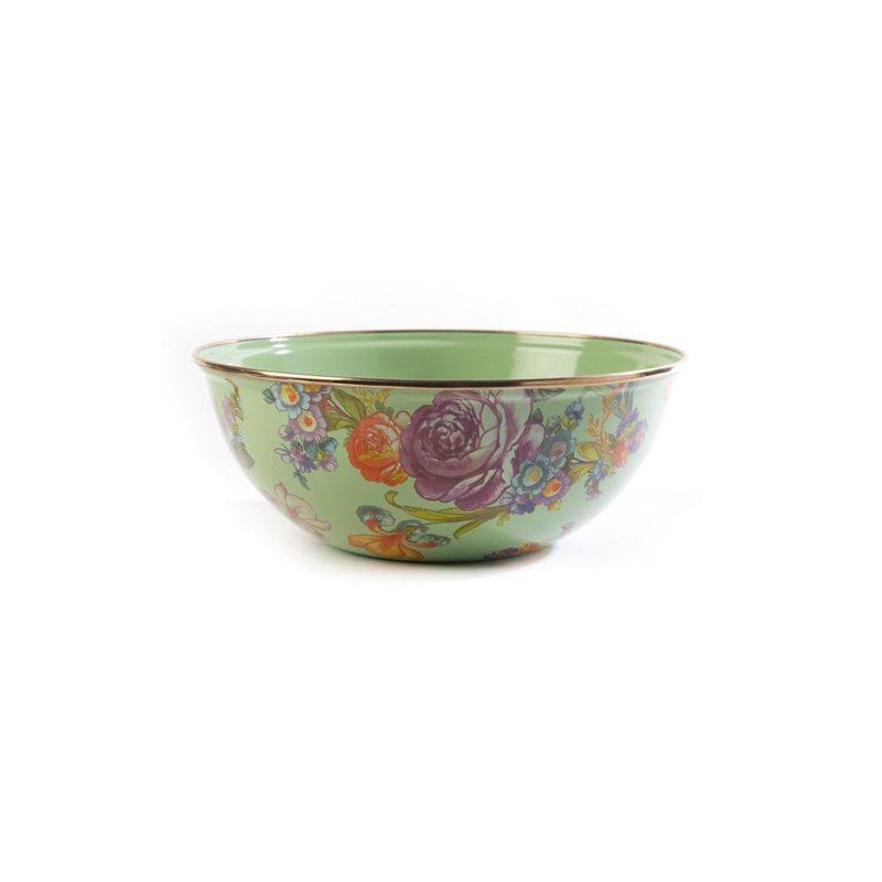MacKenzie-Childs Flower Market Medium Everyday Bowl - Green