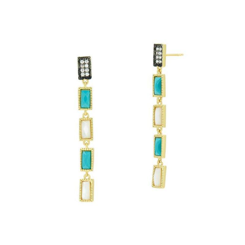 Freida Rothman Linear Infinity Earrings