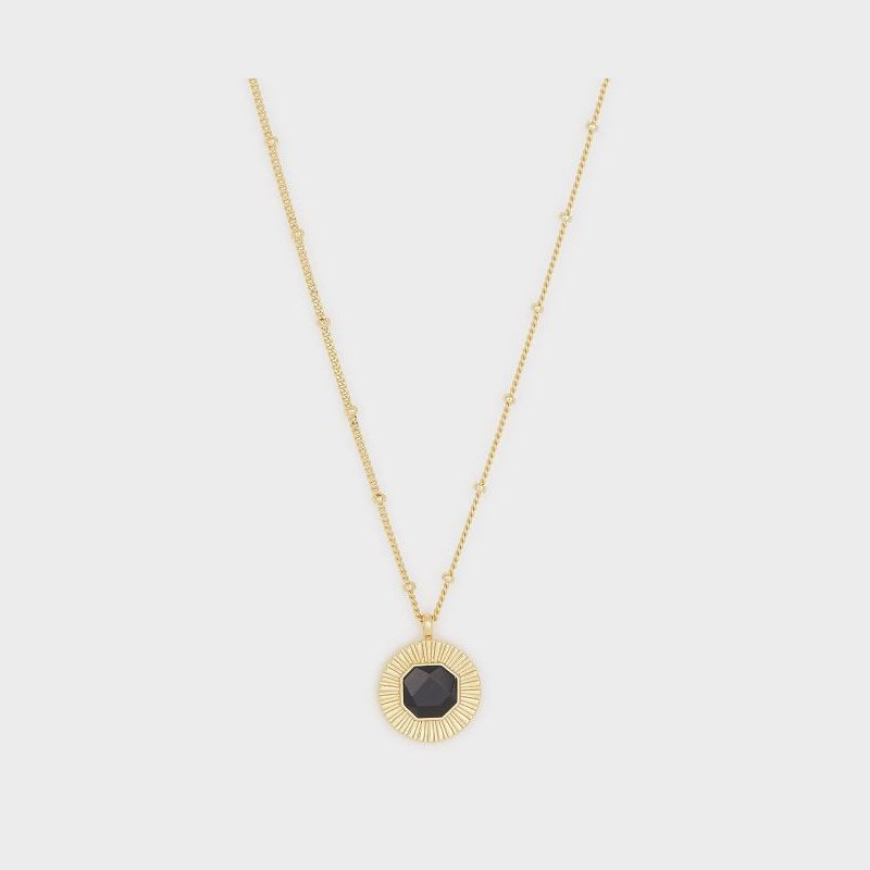 Gorjana Power Gemstone Coin Necklace for Protection