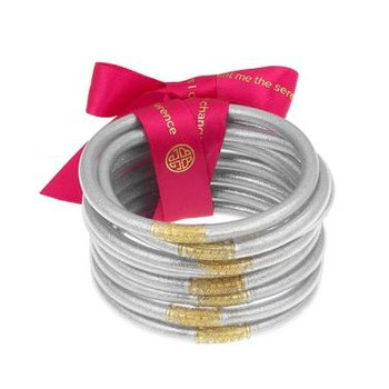 Silver All Weather Bangles in Medium