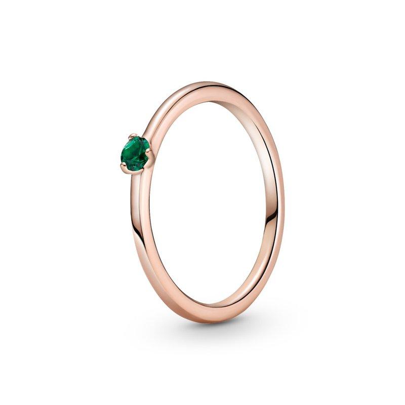PANDORA Green Solitaire Ring