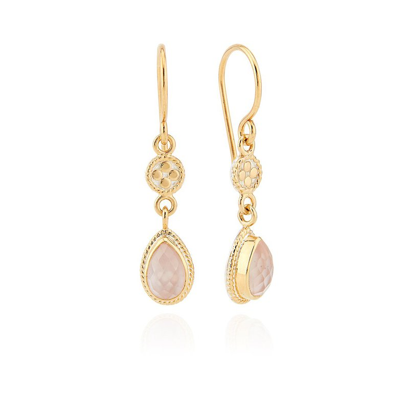 Anna Beck Guava Double Drop Earrings