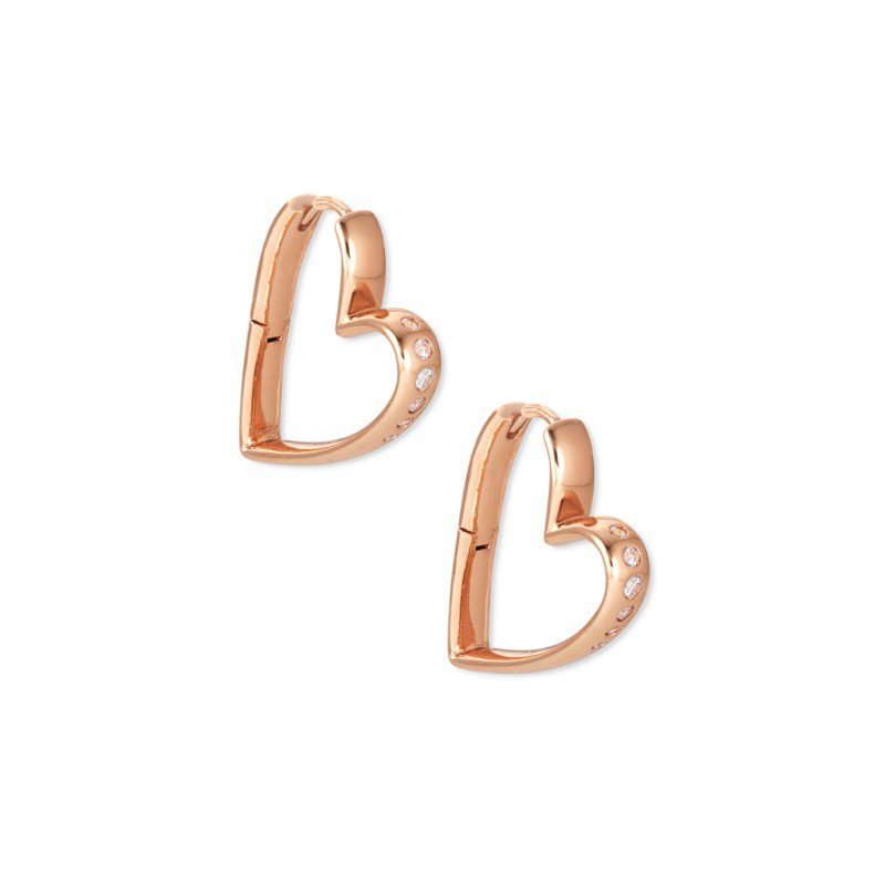 Kendra Scott Ansley Small Hoop in Rose Gold