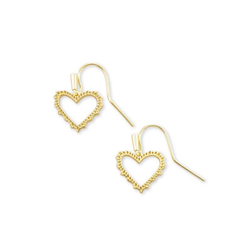 Kendra Scott Sophee Heart Drop in Gold