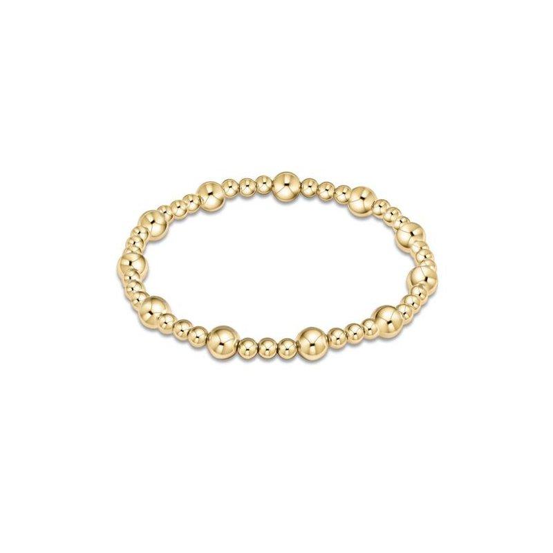 ENewton Design Classic Sincerity Pattern 6mm Bead Bracelet - Gold