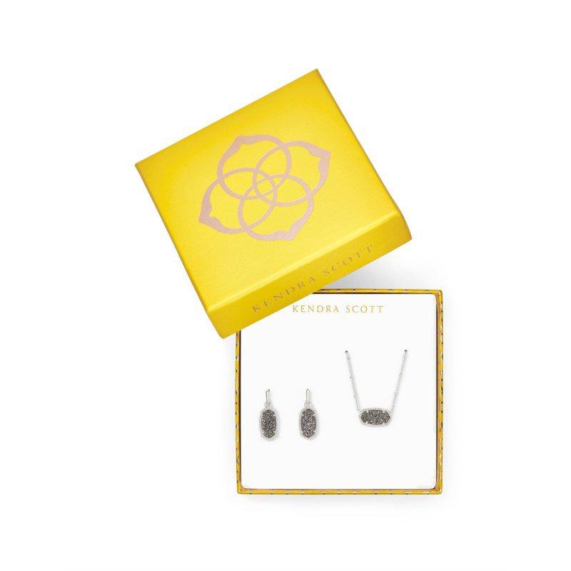 Kendra Scott Satellite Elisa & Lee Gift Set in Platinum Drusy