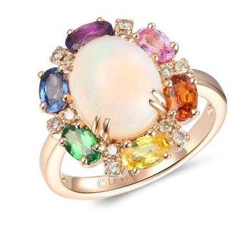Creme Brulee® Neopolitan Opal™ & Multi-Gemstone Ring