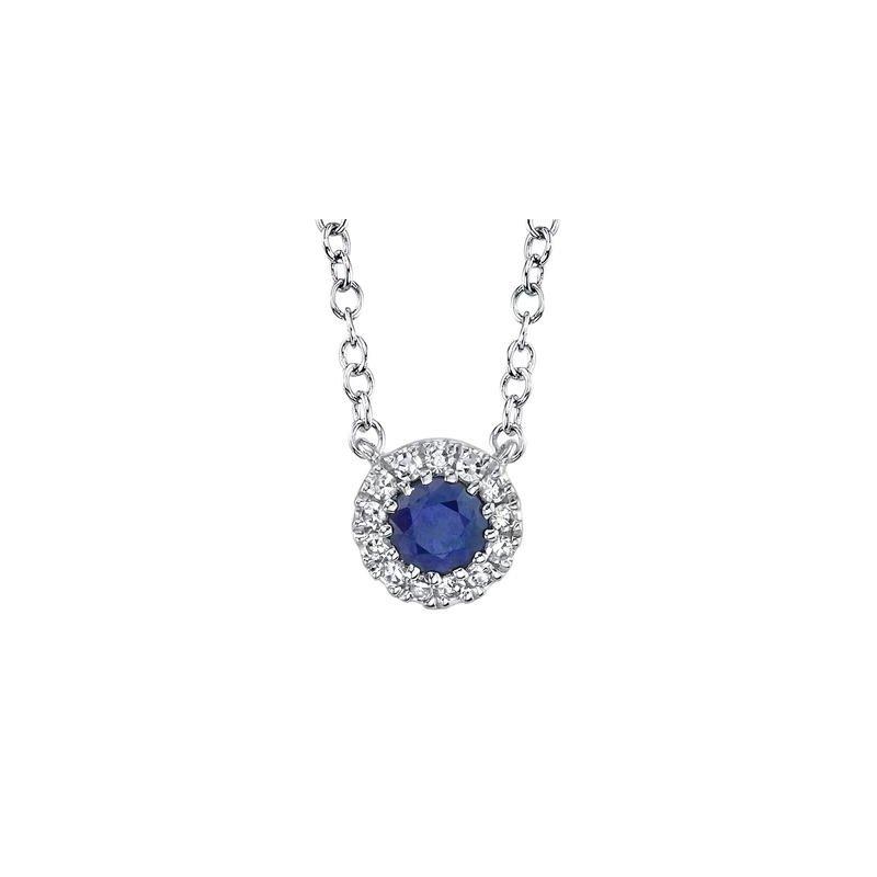 Kelley Collection  Sapphire & Diamond Pendant