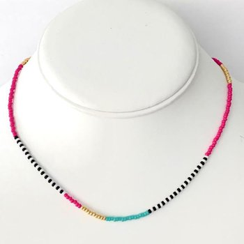 Seed Bead Necklace - Preppy