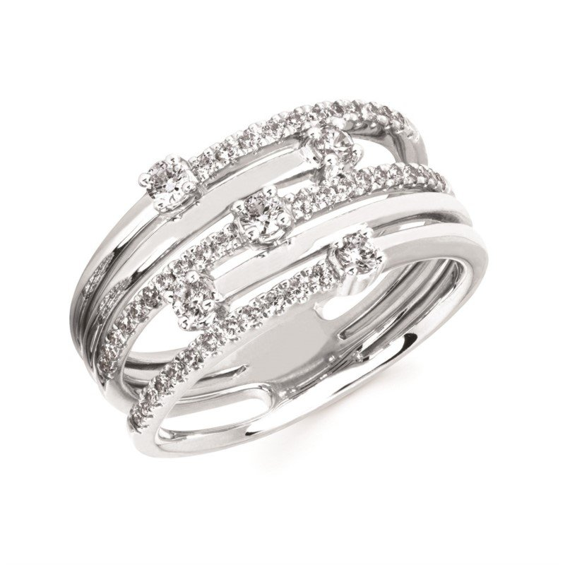 Kelley Collection  Diamond Crossover Ring