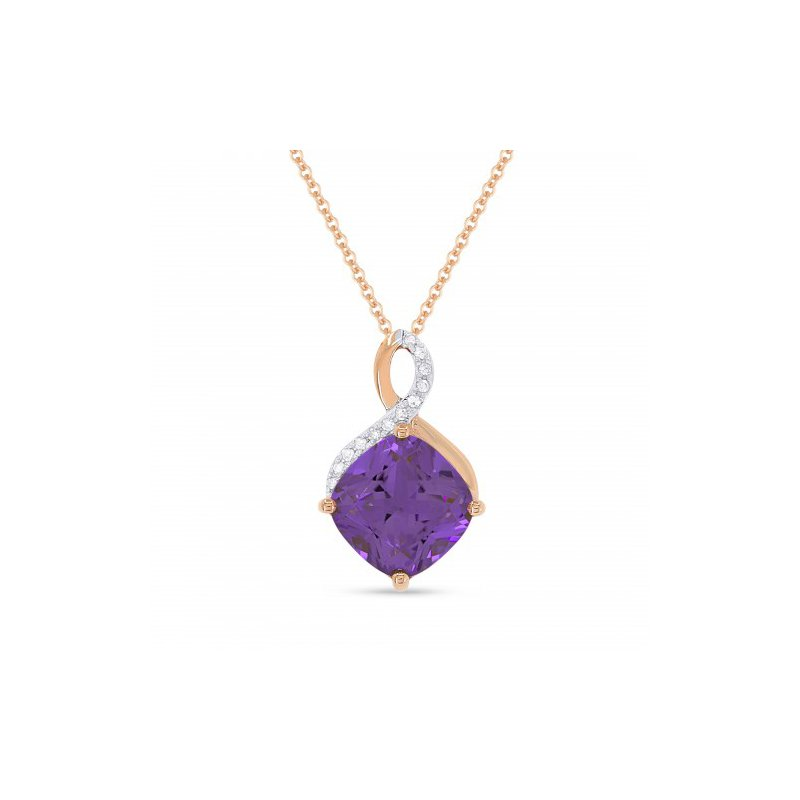 Kelley Collection  Amethyst & Diamond Pendant