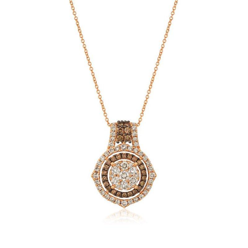 Le Vian 14K Strawberry Gold® Nude &  Chocolate Diamond® Pendant