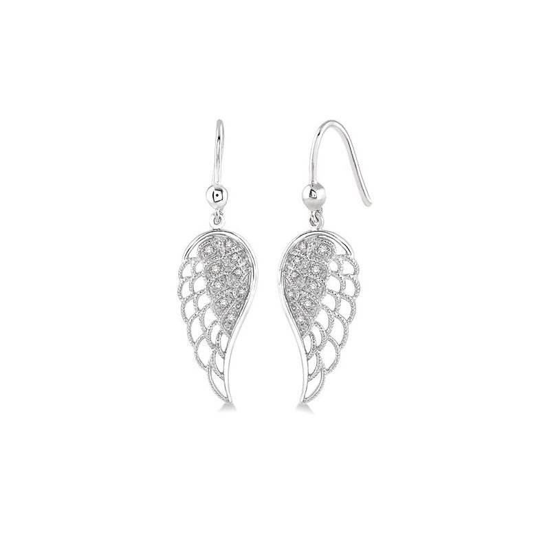 Kelley Collection  Diamond Angel Wing Earrings