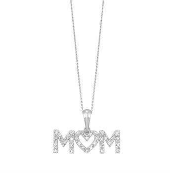 Diamond Mom Pendant