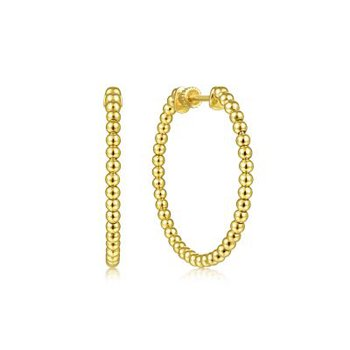 Beaded Bujukan Hoop Earrings