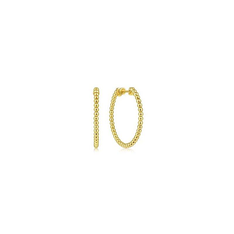 Gabriel NY Fine Jewelry Beaded Bujukan Hoop Earrings