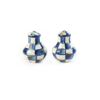Royal Check Salt & Pepper Shakers