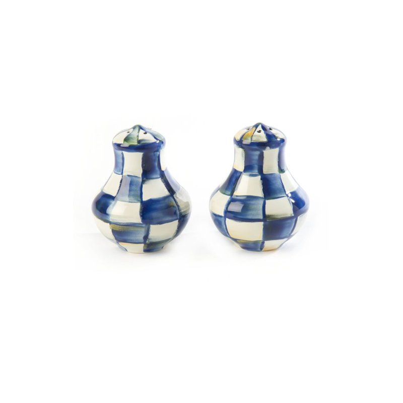MacKenzie-Childs Royal Check Salt & Pepper Shakers