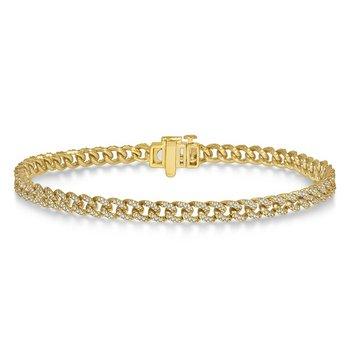 Diamond Curb & Cuban Link Bracelet