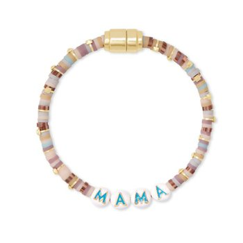 Reece Mama Friendship Bracelet in Neutral Pastel Mix