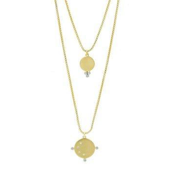 Double Orbit Pendant Necklace