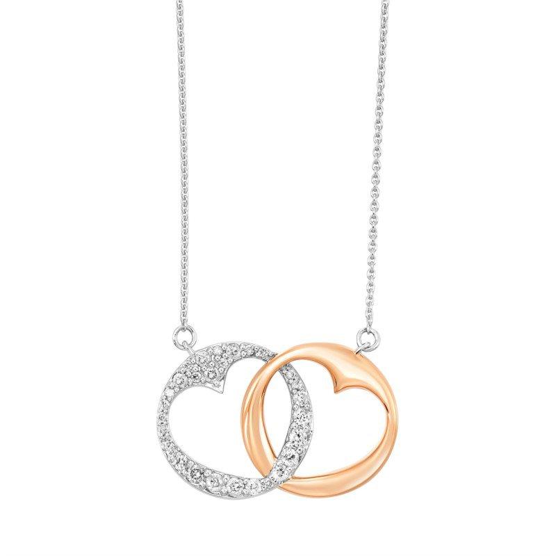 Kelley Collection  Diamond Interlocking Heart Pendant
