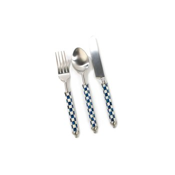 Supper Club 3-Piece Place Setting - Royal Check