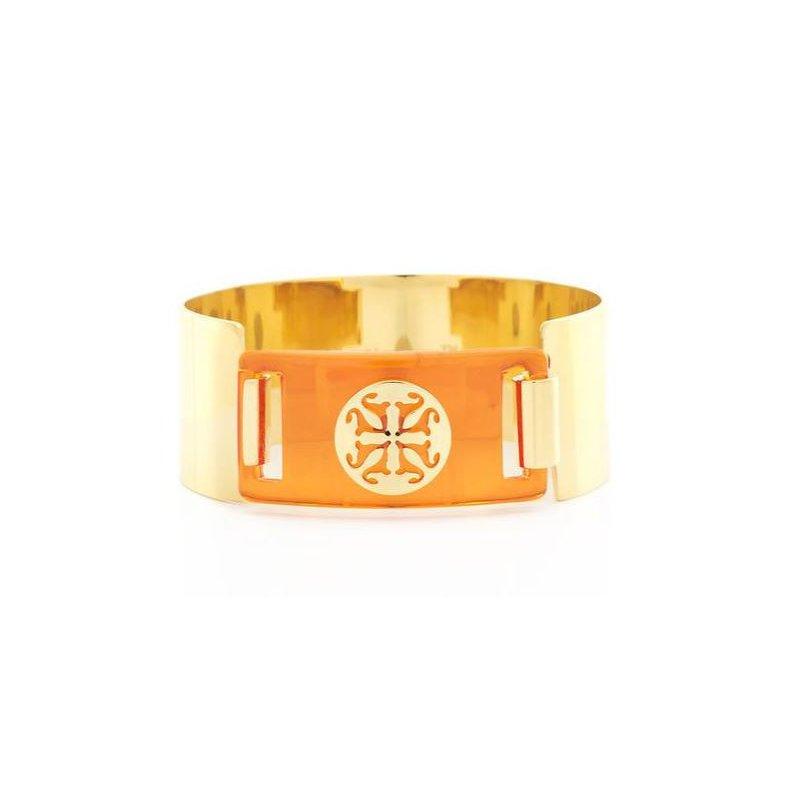 Rustic Cuff Heather Orange in Gold