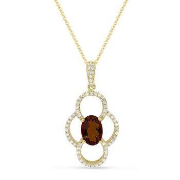 Garnet & Diamond Necklace