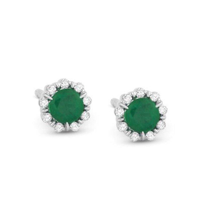 Kelley Collection  Emerald & Diamond Studs