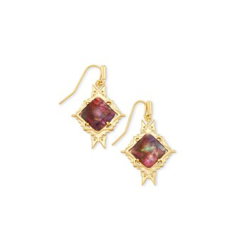 Cass Drop Earring in Mauve Abalone