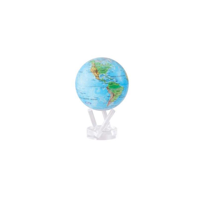 "Mova Globes 4.5"" Blue Relief Map Globe"