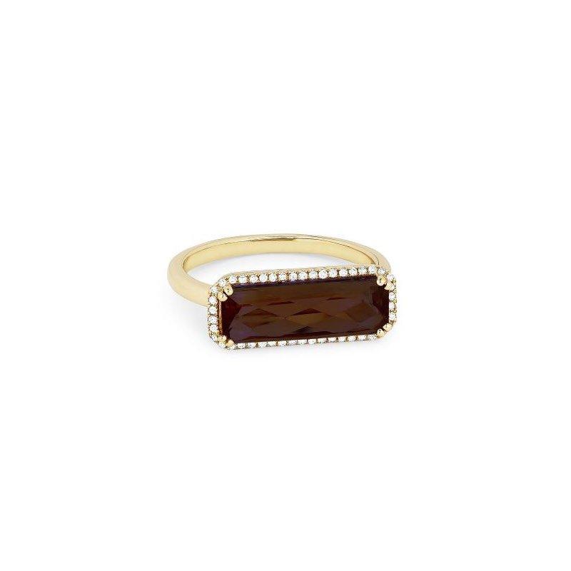 Kelley Collection  Garnet & Diamond Ring