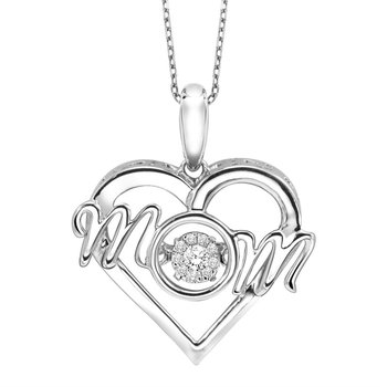 MOM Shimmering Diamond Pendant
