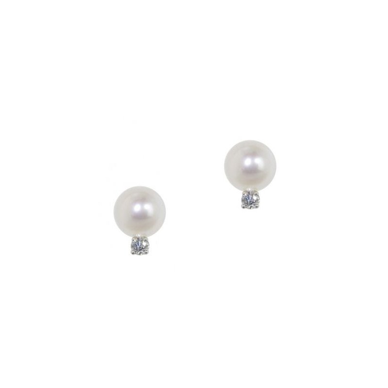 Honora Freshwater Cultured Pearl & Diamond Earrings