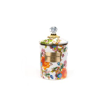 White Flower Market Medium Canister
