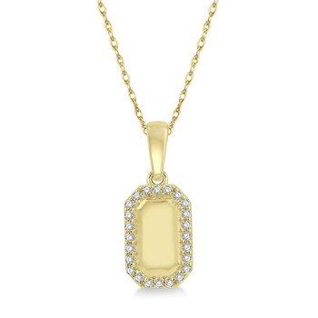 Diamond Tag Pendant
