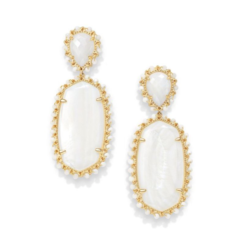Kendra Scott Parsons in White Mother of Pearl