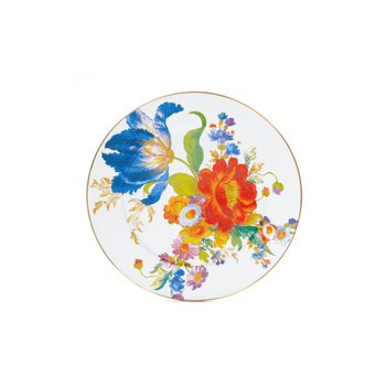 Flower Market Serving Platter - White