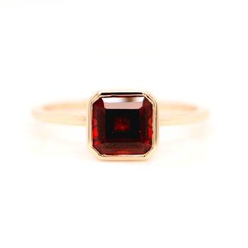 Garnet Bezel Ring
