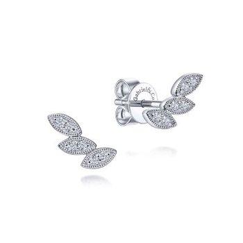 Triple Marquise Stud Earrings