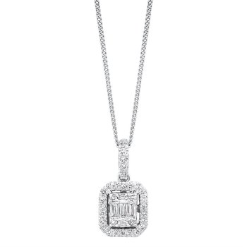 Time Square Diamond Pendant