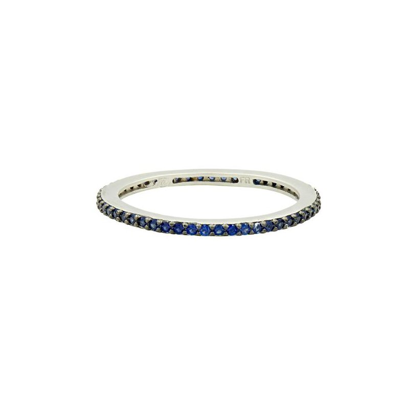 Freida Rothman All Pave Blue Stackable Ring
