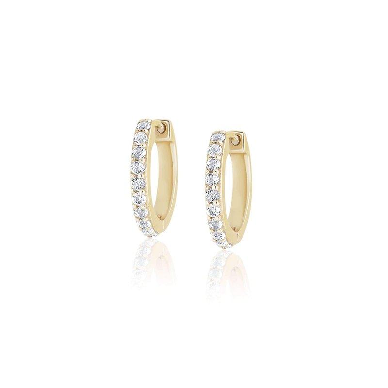 Ela Rae Jewelry, LLC Mini Pave Huggies